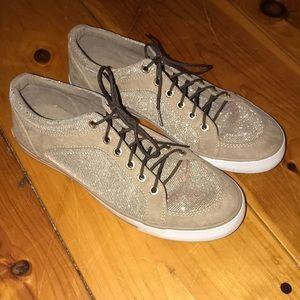 Gold metallic sneakers